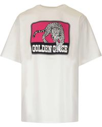 Golden Goose Deluxe Brand Tiger Print T-shirt - White