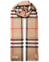Burberry Check Lightweight Scarf - Multicolour