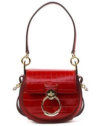 Tess Small Leather Camera Bag - Red