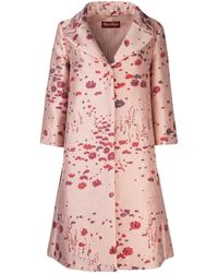 Max Mara Studio Embroidered Tobia Overcoat - Pink