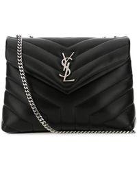 Saint Laurent Loulou Matelassé Small Shoulder Bag - Black