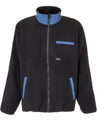 Stussy Mock Neck Zipped Sweatshirt - Black