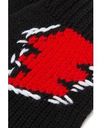 Prada Black Wool Gloves Nd Uomo - Multicolour
