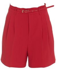 RED Valentino Belted Tailored Shorts