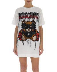 Moschino Teddy Bat T-shirt Dress - White
