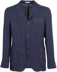 Boglioli Single-breasted Tailored Blazer - Blue