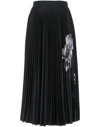 Valentino - Pleated Midi Skirt - Lyst