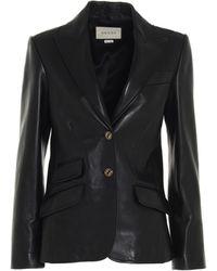 Gucci Plongé Leather Jacket - Black