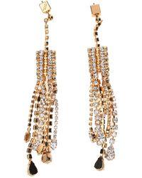 Marni Crystal-embellished Drop Earrings - Metallic