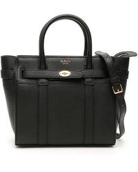 "Mulberry "" Zipped Bayswater Mini Bag"" - Black"