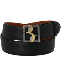 Billionaire Logo Buckle Belt - Black