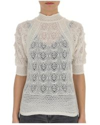 See By Chloé Embroidered Short Sleeve Sweater