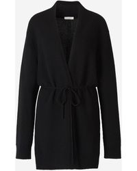 The Row Belted Cashmere Cardigan - Black