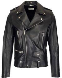 Saint Laurent Classic Leather Biker Jacket - Black