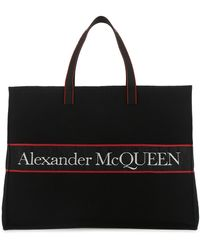 Alexander McQueen East West Selvedge Tote Bag - Black