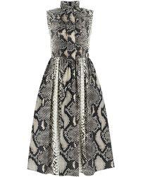 Prada Printed Poplin Dress - Black