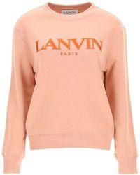Lanvin Sweatshirt With Logo Embroidery - Multicolour