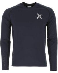 KENZO Navy Blue Stretch Polyester T-shirt Nd Uomo