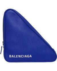 Balenciaga - Tri Triangle Clutch Bag - Lyst