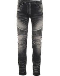 Balmain Washed Biker Jeans - Black