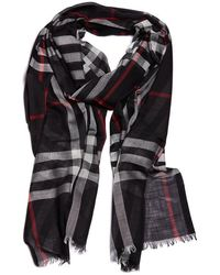 Burberry - Classic Checked Scarf - Lyst