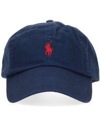 Polo Ralph Lauren Logo Embroidered Baseball Cap - Blue