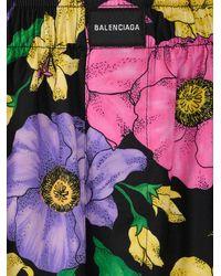 Balenciaga Floral Printed Pants - Multicolor