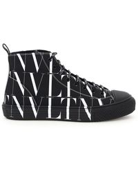 Valentino Garavani Vltn Times Giggies High-top Sneakers - Black