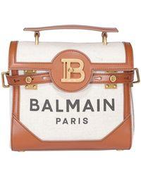 Balmain B-buzz 23 Logo Tote Bag - Natural