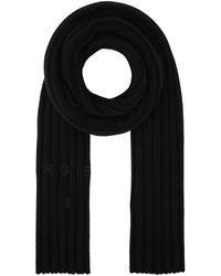 MM6 by Maison Martin Margiela Logo Embroidered Scarf - Black