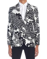 Alexander McQueen Paisley Jacquard Jacket - White