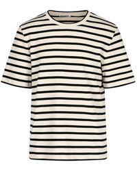 Jil Sander Striped Crewneck T-shirt - Multicolor