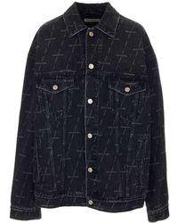 Balenciaga Oversized Denim Jacket - Black
