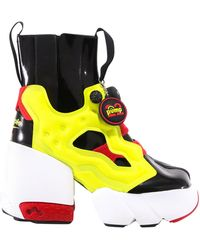 Maison Margiela X Reebok Tabi Instapump Fury Hi Boots - Multicolour
