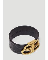 Balenciaga Bb Embossed Bracelet - Black