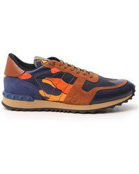 Valentino Garavani Rockstud Rockrunner Sneakers - Blue