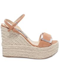 Sergio Rossi Buckled Wedge Sandals - Brown