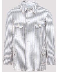 Maison Margiela Pinstripe Shirt Jacket - Multicolour