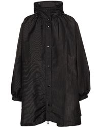 Marine Serre Crescent Print Hooded Windbreaker Jacket - Black