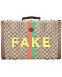 Gucci Logo Printed Medium Suitcase - Multicolour