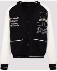 Amiri Varsity V-neck Cardigan - Black