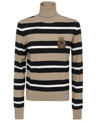 Dolce & Gabbana Striped Turtleneck Jumper - Multicolour