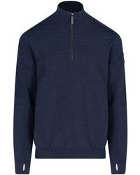 Canada Goose Clarke Quarter Zipped Sweater - Blue