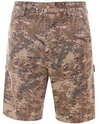 Carhartt WIP Camouflage Print Chino Shorts - Brown