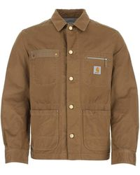 Junya Watanabe X Carhatt Logo Patch Shirt Jacket - Brown