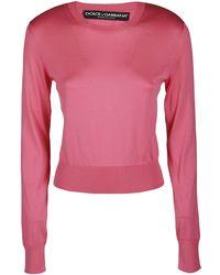 Dolce & Gabbana Crewneck Jumper - Pink