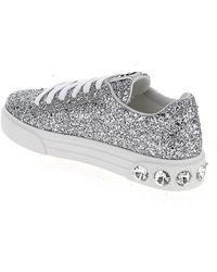 Miu Miu Glittered Sneakers - Metallic