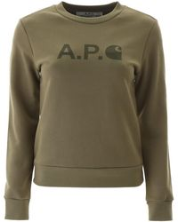 A.P.C. Logo Sweatshirt - Multicolour