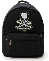 Philipp Plein Logo Patch Backpack - Black