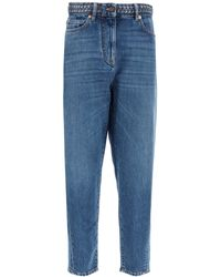 Valentino High Waisted Jeans - Blue